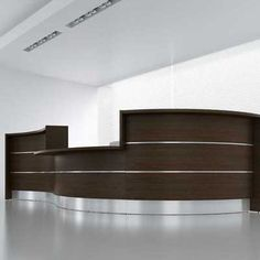 Modern Office Lobby Furniture front reception desk elegeant white style | new childcare center