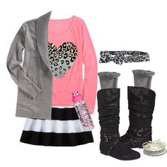 """""""Outfit Justice Tweens fall/winter"""" by tanyaf1 on Polyvore"""