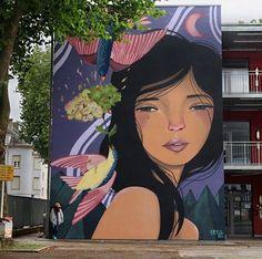 Street Art Best of July 2017 - Street art and graffiti magazine Murals Street Art, Street Art Graffiti, Mural Art, Wall Murals, Wall Art, Garden Fence Art, Best Street Art, Portraits, Street Artists