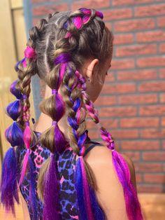 Mommy Hairstyles, Braided Hairstyles Tutorials, Rave Hair, Best Hair Dye, Dark Eyebrows, Hair Color Purple, Festival Hair, Hair Shows, Textured Hair