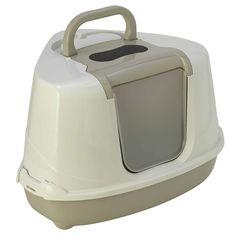 Bandeja Sanitaria Cubierta Rinconera para Gato - Sanitario Toilet - Flip Corner- Color Gris
