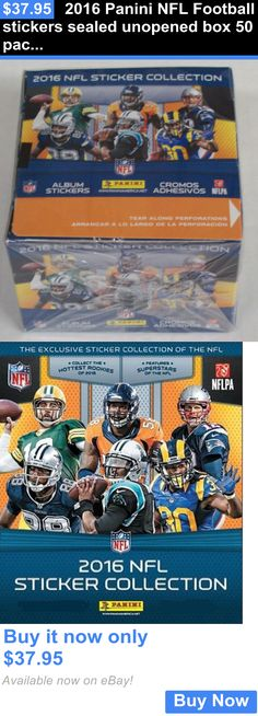 Sports Memorabilia: 2016 Panini Nfl Football Stickers Sealed Unopened Box 50 Packs Of 7 BUY IT NOW ONLY: $37.95