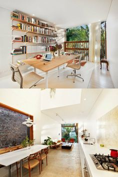 Love the openess of this space.The white and the wood.*bliss*