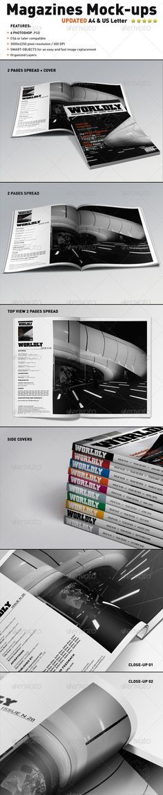Realistic Magazines Mock-ups Templates Download here: https://graphicriver.net/item/realistic-magazines-mockups-templates/1623692?ref=KlitVogli