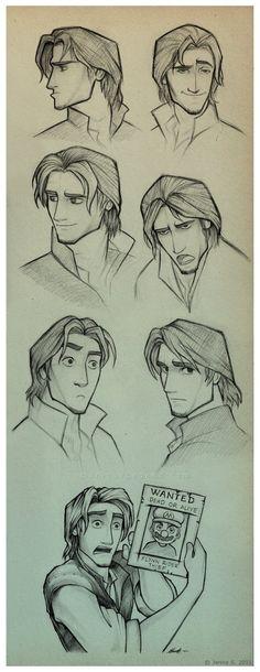 Flynn Rider Sketches by EternaLegend on DeviantArt