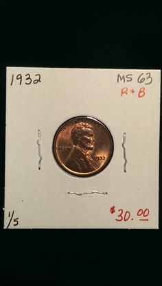 1932 Lincoln Cent MS63 R&B