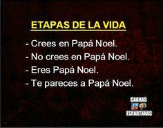 La creencia de Papa Noel va por etapas