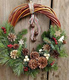 Christmas wreath rustical