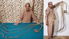 One man in India hasn't clipped the nails on one of his hands in 62 years, which makes them the world's longest fingernails on record at 30-feet...