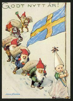 Nyårskort av Jenny Nyström