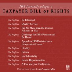 IRS Adopts Bill of Rights for Taxpayers