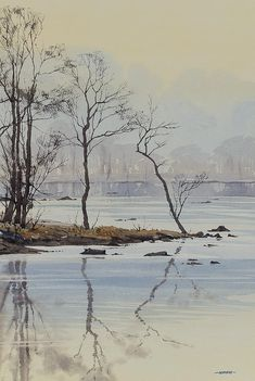 Oliver Pyle Fine Art, watercolour paintings, landscape paintings | Winter
