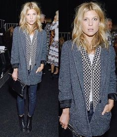 Clémence Poésy attends Erdem S/S 2016 Fashion Show as part of LFW - September 21, 2015.
