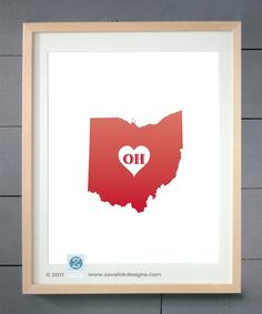 Ohio love. Would be cute with your wedding date under it.   www.gettothebc.com   Butler County, Ohio