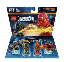 LEGO Dimensions Team Pack: Lego Ninjago (Kai, Cole, Blade Bike, and Boulder Bomber included)