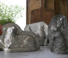 Vintage Easter chocolate molds