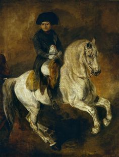Napoleon on horseback by Piotr Michałowski, ca. 1846-1847 (PD-art/old), Muzeum Narodowe w Warszawie (MNW)