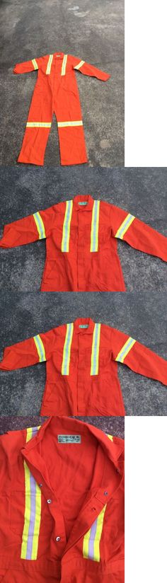e94742447ef Other Safety and Protective Gear 20798  New High Visibility Cotton Overalls  With Reflective Trim Orange