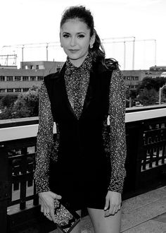 Nina Dobrev attends the StyleWatch x Revolve Fall Fashion Party on the The High Line on (Aug 12)