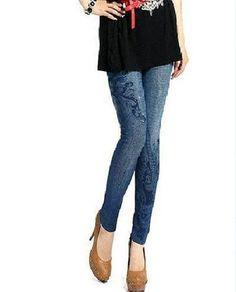 fd3b63e43550c7 Hot Sale Summer Style Skinny Printed Sexy Slim Cartoon Denim Leggins  Women's Fashion Elastic Force Jean Leggings WYC19