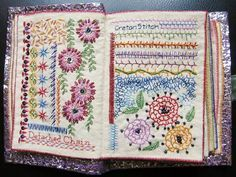 How to make sample stitch book - Simple Craft Ideas Embroidery Sampler, Paper Embroidery, Hand Embroidery Stitches, Embroidery Techniques, Cross Stitch Embroidery, Embroidery Patterns, Simple Embroidery, Embroidery Books, Japanese Embroidery