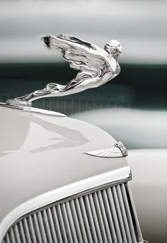 Bentley - reminds of the hood ornament mom had re- chromed for dads old truck...Brought to you by #CarInsurance@Houseofinsurance Eugene Oregon