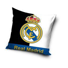 Bielo čierny vankúš s potlačou Real Madrid