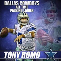 Tony Romo has just passed Troy Aikman to become the Cowboys All-Time passing leader. #DallasCowboys #FinishTheFight