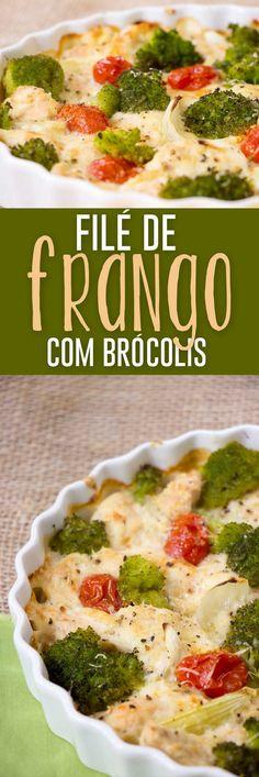 Filé de Frango com Brocolis