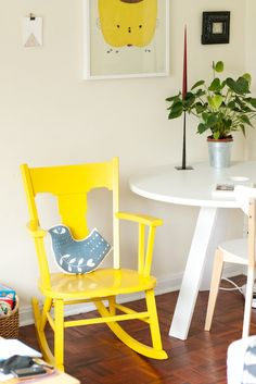 Sunny yellow - lovely Lou Lou & Oscar's home