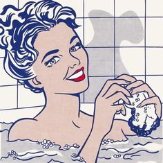 Roy Lichtenstein, Woman in Bath, 1963 Pop Art