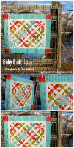 Baby Quilt Tutorial – Disappearing 4 Patch