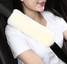 Dotesy Auto Genuine Sheepskin Seat Belt Cover,Universal Fuzzy Pure Wool Car Seatbelt Cover Shoulder Pads for Adults Kids Children,Safety Belt Strap Chest Protector Neck Cushion,White #Dotesy #Auto #Genuine #Sheepskin #Seat #Belt #Cover,Universal #Fuzzy #Pure #Wool #Seatbelt #Cover #Shoulder #Pads #Adults #Kids #Children,Safety #Strap #Chest #Protector #Neck #Cushion,White