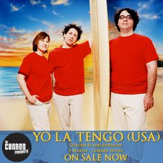 JUST ANNOUNCED: Yo La Tengo will play a Golden Plains sideshow at the Corner Hotel on the 9th of March! Tickets are on sale now. Click here ...