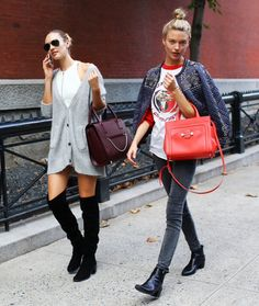 NYFW Street Style | Candice Swanepoel and Martha Hunt Off Duty after Marc Jacobs