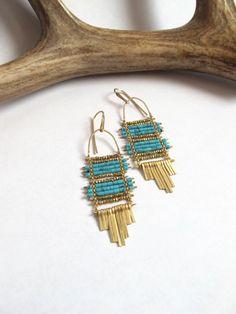 Seek the Sky Turquoise earrings by demimondejewelry on Etsy, $138.00