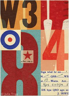 Signals: no 5, by Julia Trigg, UK   This is even better enlarged. Kurt Schwitters and Jasper Johns, eat your hearts out.