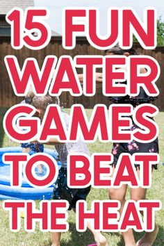Whether you're looking for water games for kids or water games for adults, this list will have something to help you beat the heat this summer! Water ballon games, games to play in the sprinklers, and even one of the most water bottle flip games you'll ever play! Simply try one or ten of these fun water games on a hot summer day for guaranteed cool down fun! Water Ballon Games, Water Games For Kids, Water Balloons, Games For Teens, Balloon Games, Backyard Water Games, Outdoor Water Games, Outdoor Games Adults, Indoor Games