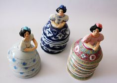 Ceramic bowls used for skirts for half dolls ...