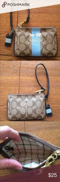 Coach wristlet Used but VERY good condition coach wristlet!willing to negotiate :) Coach Bags Clutches & Wristlets