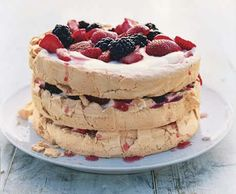 Three-Layer Berry and Brown Sugar Pavlova:  made this for Easter - wow, so delicious!