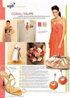 Coral and Taupe | Bride Bop