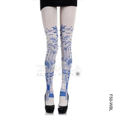 Showing some leg - City print tights by Zohara