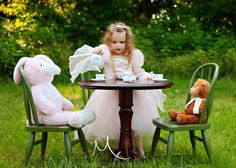Children Photography - Kid & Family photos - Tea Party Session - Mesmerizing Moments