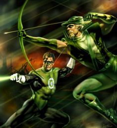 Green Lantern / Green Arrow by =RaffaeleMarinetti