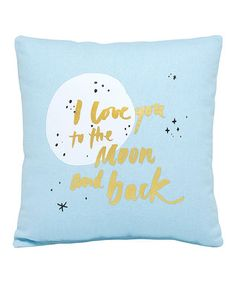 Hello World 'I Love You to the Moon and Back' Mini Throw Pillow