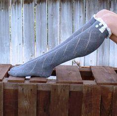 Botas meias, Rendas de algodão meias, Mulheres acessórios, Oco respirável joelho malha guarnição, Abotoado 6 doces cores(China (Mainland))