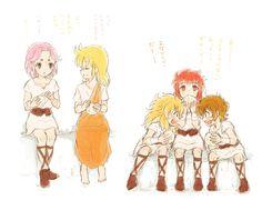 Mu, Shaka, Milo, Camus ve Aiolia