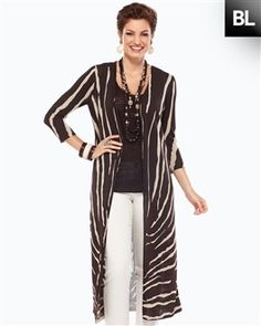 9ea9dd48bb4de Animal print is back in a major way for Fall 2012 – we're loving this long  cardigan from Chico's! ( Bruinenberg Azorit's, Fashion Fashion