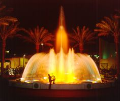 The fountain in downtown Fort Lauderdale plays music and actually mocks the beat/tone of each song through the water height and intensity.